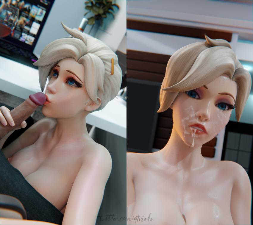 overwatch-sex-art-–-cum,-mercy,-cute,-qtria,-kissing,-cum-on-face,-ponytail.