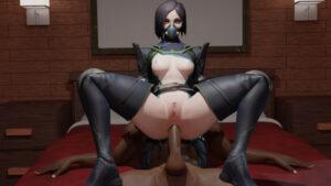 viper-xxx-art-–-green-eyes,-anal,-black-hair,-reverse-cowgirl-position.