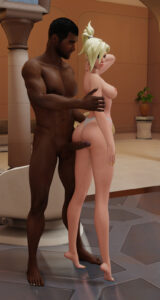 overwatch-rulern-–-teasing,-dark-skinned-male,-pinup,-interracial.