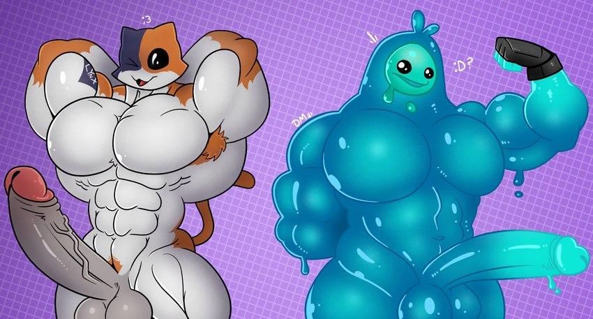 meowscles-game-porn-–-pecs,-body-hair,-penis,-fingerless-gloves,-calico-cat.