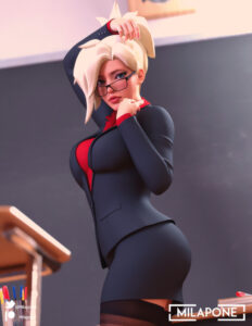 overwatch-xxx-art-–-thighhighs,-clothed,-alternate-costume,-highres,-looking-at-viewer,-office.