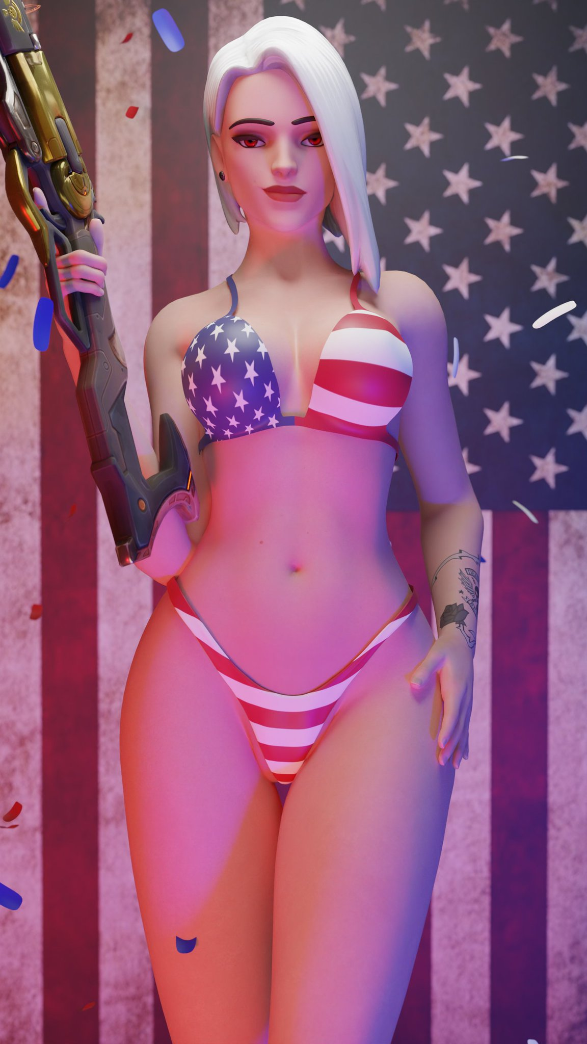 ashe-game-porn-–-looking-at-viewer,-bikini.