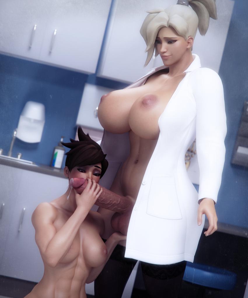 overwatch-hentai-porn-–-erection,-labcoat,-medium-breasts,-futanari,-abs.