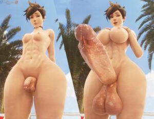 overwatch-game-hentai-–-veiny-penis,-breasts,-beach,-detailed-background,-voyeur.
