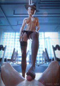 ashe-porn-hentai-–-looking-at-viewer,-garter-belt,-female,-smile,-vgerotica,-garter-straps.