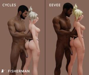 overwatch-xxx-art-–-black-panties,-blonde-hair,-watermark,-male,-blender,-thong.