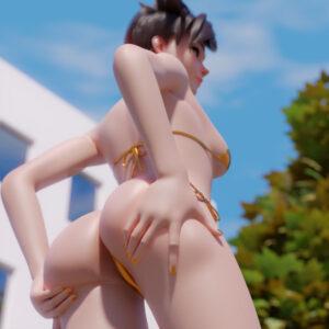 overwatch-xxx-art-–-brown-hair,-solo-female,-bikini,-ass-focus.
