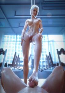 ashe-free-sex-art-–-shiny,-blizzard-entertainment,-female,-footjob,-highres,-nude.