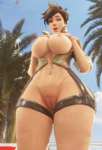 overwatch-hentai-–-partially-clothed,-navel,-fat-mons,-navel-piercing,-happy,-detailed-background,-pussy.