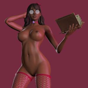 isabelle-xxx-art-–-fishnets,-glasses,-dark-skinned-female,-feversfm,-huge-breasts,-book.