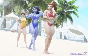 overwatch-rule-abs,-tracer,-cleavage,-muscles,-female-only,-breasts.