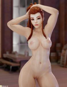 overwatch-hentai-xxx-–-female,-fit,-brigitte,-pussy,-brown-hair,-shiny-skin,-breasts.