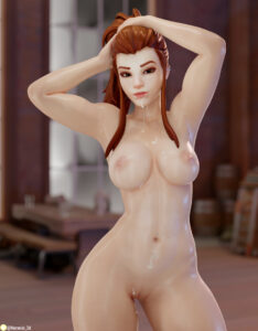 overwatch-game-porn-–-earrings,-thighs,-nemesis-thick-thighs,-pussy,-cum-in-mouth,-brown-hair.