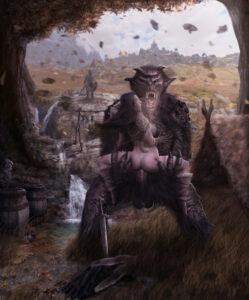 skyrim-rulern-–-,-the-elder-scrolls,-wasmachensachen,-troll,-bandit.