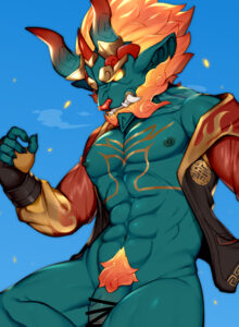 firewalker-hentai-xxx-–-genitals,-pubes,-ineffective-censorship,-mythological-nian,-abs,-clothing,-bottomless-male.