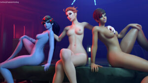 overwatch-hentai-xxx-–-sombra,-medium-breasts,-moira,-looking-at-viewer,-ls,-closed-legs.