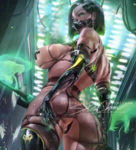 viper-hentai-–-female-focus,-sakimichan,-sideboob,-female-only,-cameltoe.