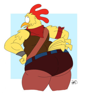 fortnite-game-hentai-–-chicken,-looking-back,-big-ass,-tight-clothing.