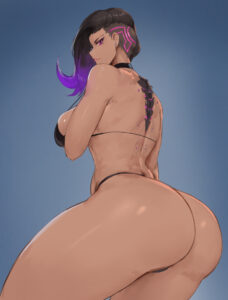 overwatch-game-hentai-–-simple-background,-ass-cheeks,-ass,-back-view,-highlights,-breasts,-hi-res.