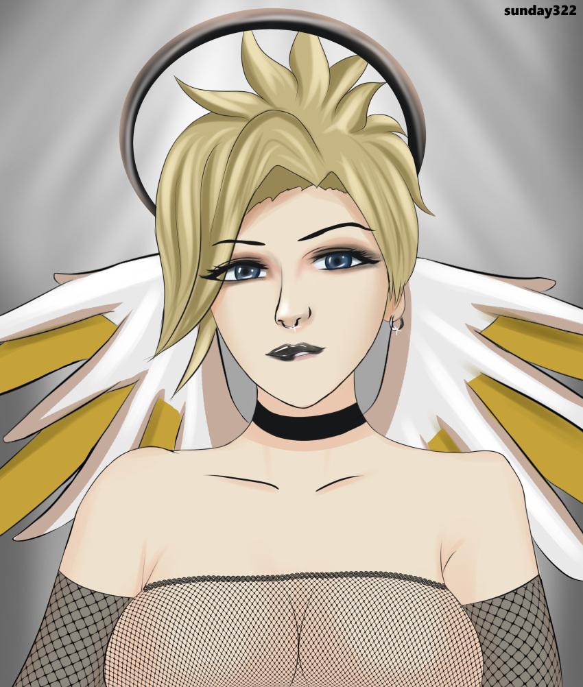 overwatch-hentai-–-goth,-black-lipstick,-solo-female,-choker.