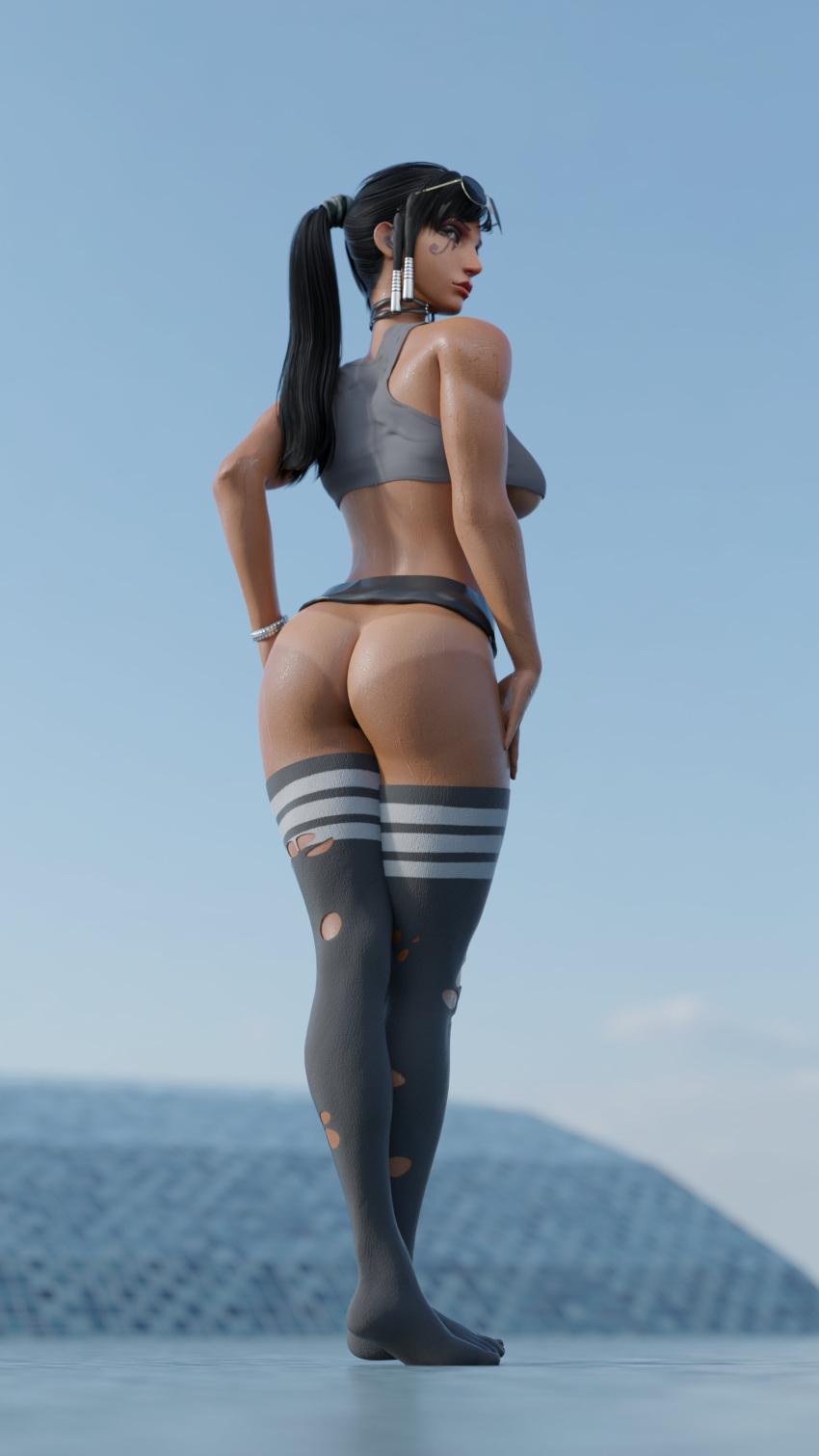 overwatch-free-sex-art-–-dark-skin,-black-hair,-dark-skinned-female,-female,-presenting,-thick-thighs.