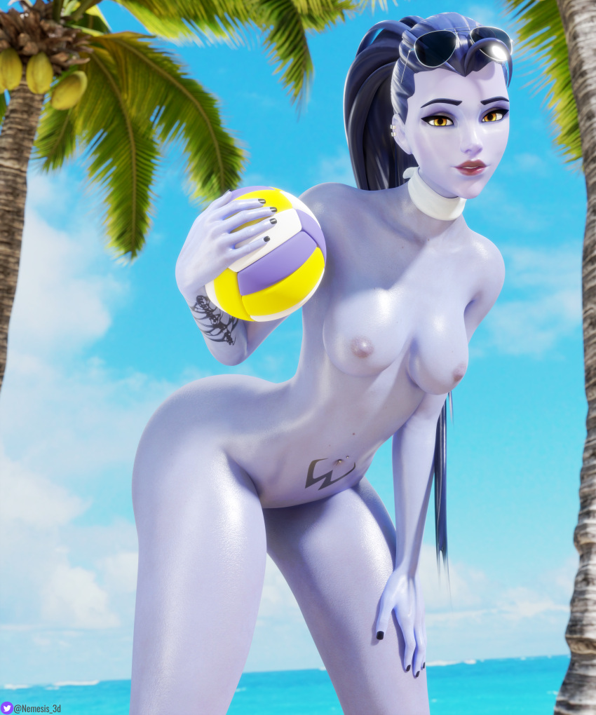 overwatch-game-porn-–-palm-tree,-thighs,-female,-sunglasses.