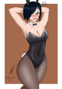 viper-game-porn-–-simple-background,-short-hair,-bunnysuit,-female-focus,-qiya,-looking-at-viewer.