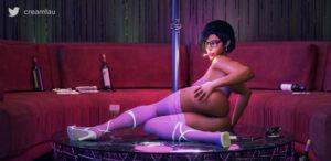 overwatch-sex-art-–-female-only,-female,-stripper-pole,-cigarette,-pharah,-creamtau,-pinup.
