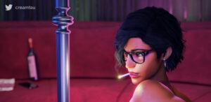 overwatch-hentai-art-–-smoking-fetish,-creamtau,-presenting,-cigarette,-pharah,-pinup.