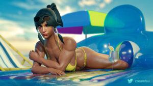 overwatch-hentai-porn-–-medium-breasts,-bikini,-beach,-sunglasses-on-head,-black-hair.