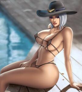 ashe-xxx-art-–-lingerie,-solo,-large-breasts,-bra,-female.