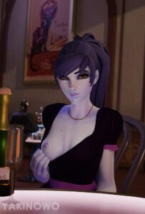 overwatch-hentai-porn-–-blue-hair,-flashing,-blizzard-entertainment,-purple-hair,-widowmaker.