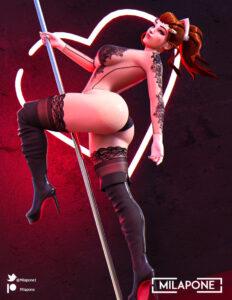 overwatch-free-sex-art-–-makeup,-ass,-brigitte,-red-hair,-pole-dancing.