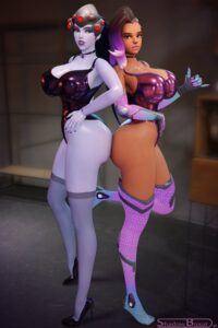 overwatch-game-hentai-–-shadowboxer,-female-only,-dark-skinned-female,-thick-thighs,-ls.