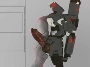 bastion-hentai-art-–-robot-boy,-omnic,-e,-alternate-costume,-jerkingoff.