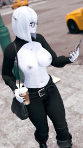 skyrim-hot-hentai-–-belly-button-piercing,-black-fingernails,-breasts-out,-topless,-belt,-jeans.