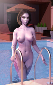 overwatch-xxx-art-–-looking-at-viewer,-yellow-eyes,-bob-cut,-areolae,-short-hair.
