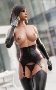 overwatch-hentai-xxx-–-latex-garters,-muscle,-bob-cut,-latex-stockings,-pharah-best-girl,-short-hair.