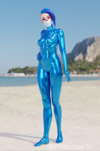 catalyst-game-porn-–-blue-hair,-white-mask,-blue-latex,-red-eyes,-latex-suit.