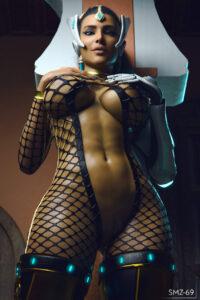 overwatch-hentai-porn-–-pussy,-dark-skin,-abs,-hand-on-breast,-mature-female.