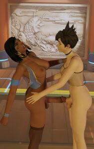 overwatch-sex-art-–-light-skin,-brown-hair,-loudpenguin,-fishnet.