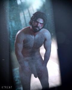jacob-free-sex-art-–-rise-of-the-tomb-raider,-ktrent,-flaccid-penis,-standing,-daz3d.