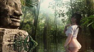 tomb-raider-sex-art-–-wet,-outdoor-nudity,-wet-shirt,-lara-croft,-photography.