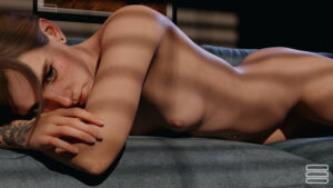 ellie-hentai-–-lying-on-stomach,-small-breasts,-female-focus,-naked,-solo,-the-last-of-us-elly-button.