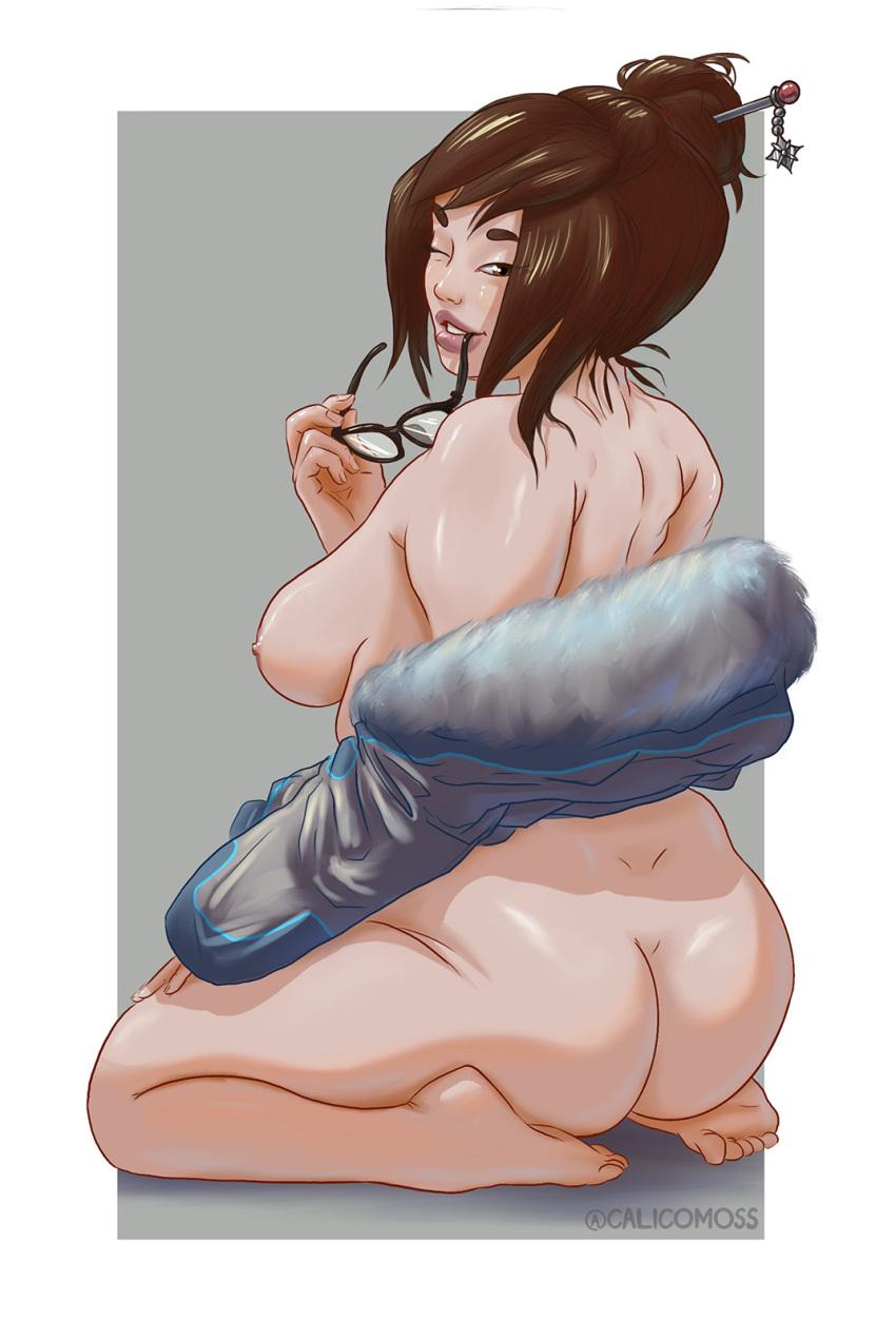 mei-free-sex-art-–-female,-glasses,-brown-hair,-calicomoss,-blizzard-entertainment.