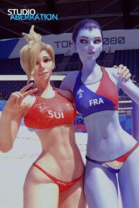overwatch-porn-–-bikini-bottom,-ponytail,-blonde-hair,-olympics