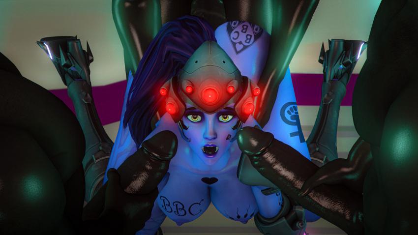 overwatch-game-hentai-–-blue-hair,-queen-of-spades,-ls,-interracial,-source-filmmaker,-on-bed,-sfm
