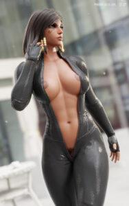 overwatch-rule-–-pharah-best-girl,-dark-skinned-female,-muscle,-bodysuit