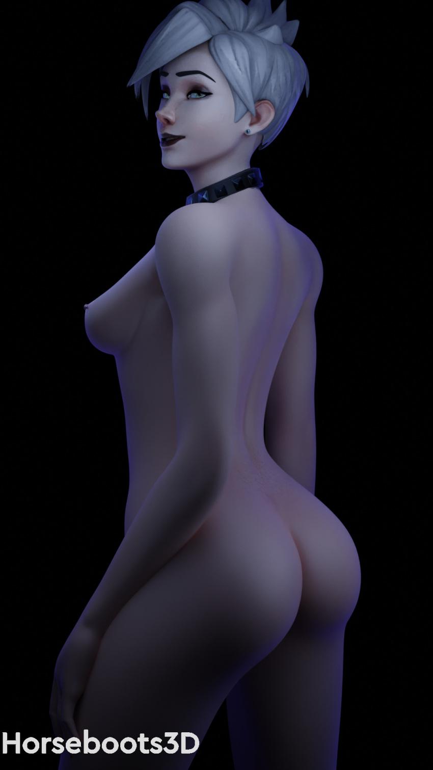 overwatch-hentai-art-–-piercing,-hand-on-neck,-goth