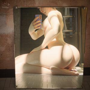 overwatch-xxx-art-–-mirror-selfie,-back-view,-soles,-cellphone